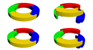 Ring puzzle bright Stock Images