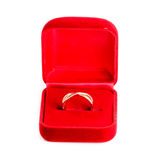 Ring in a red box Stock Photography