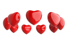 Ring of red hearts Stock Photo