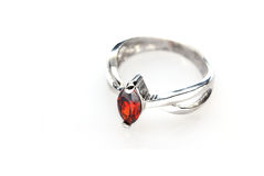 Ring with red stone Royalty Free Stock Images