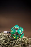 Ring with rhinestone Royalty Free Stock Images