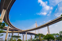 Ring Road  and Bhumibol Bridge on blue sky Stock Photography
