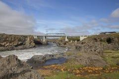 Ring Road bridge over Skjalfandafljot river Royalty Free Stock Photos