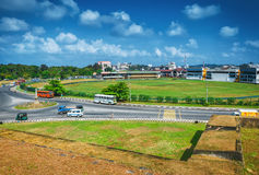 Ring road in front of the main entrance to the Fort of Galle Stock Photos