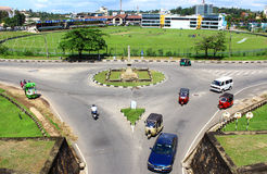 Ring road in front of the main entrance to the Galle Fort Stock Image