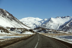 Ring road in Iceland, wintertime Royalty Free Stock Photos