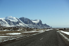 Ring road in Iceland, wintertime Stock Image