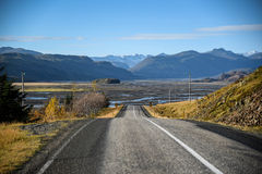 Ring road in summer of Iceland stock photography