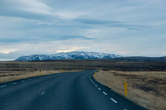Ring Road. View of the ring road in Iceland on a overcast day Royalty Free Stock Photo