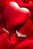 Ring and rose Royalty Free Stock Images