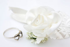 Ring and rose stock images