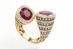 Ring with rubies Stock Photography