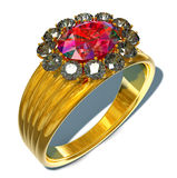 Ring and Ruby Royalty Free Stock Image