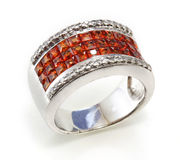 Ring with the ruby Stock Photos