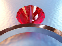 Ring Ruby Fotografia Stock