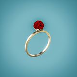 Ring with ruby Royalty Free Stock Images
