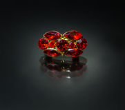 Ring with ruby Stock Photos