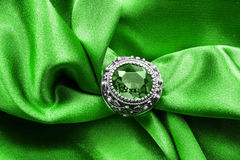 Ring on satin Royalty Free Stock Images