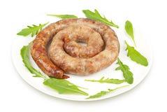 Ring sausage fried Royalty Free Stock Image