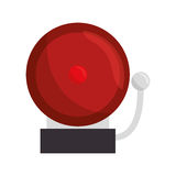 Ring school alarm icon. Vector illustration design Stock Photography