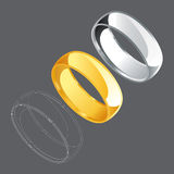Ring Set 1. Vector Drawing Royalty Free Illustration