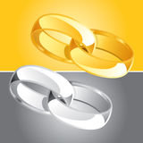 Ring Set 2. Color Vector Drawing Royalty Free Stock Photography