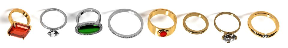 Ring set Stock Photography