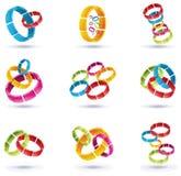 Ring Shape Logo Set 01 Royalty Free Stock Photography