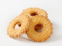 Ring-shaped cookies Royalty Free Stock Photo