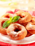 Ring-shaped donuts Royalty Free Stock Image
