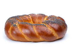 Ring shaped fancy loaf with poppyseeds Stock Images