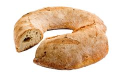 Ring-shaped Italian bread loaf Royalty Free Stock Photography