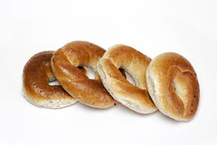 Ring-shaped rolls Stock Photos