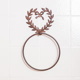 Ring shaped towel holder without towel Stock Photos