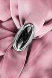 Ring on silk Stock Photo