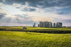 Stonehenge was passed by sun royalty free stock image