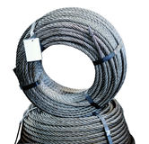 Ring of steel metal cargo cable. Stock Images