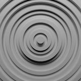 Ring steps grey background. 3D rendering Royalty Free Stock Photos