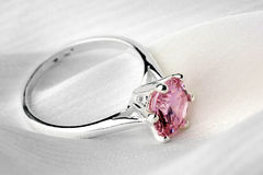 Ring with stone. Stock Images