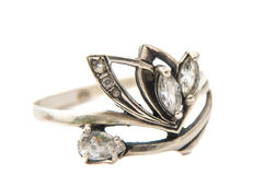 Ring with a stone Stock Image