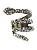 A ring with stones in the form of a snake Stock Images