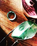 Ring and sunglasses stock photography