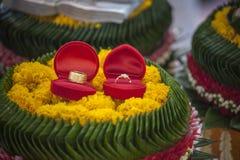 Ring Thai-Zeremonie Stockfotos