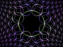 The ring to bind them all. Multi linked ring fractal background Royalty Free Stock Image