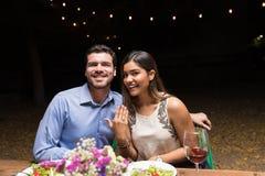 Ring To Solidify Their Love perfeito imagem de stock