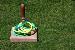 Ring Toss Game in Grass Lawn stock image