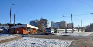 Ring trolley Riga, Latvia stock photo