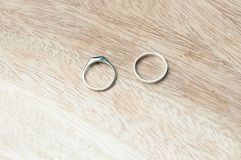 Ring. Two s on wood Royalty Free Stock Image