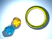 Ring und Diamant lizenzfreie abbildung