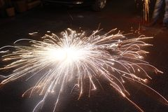 Ring van Brand - Diwali stock foto's